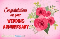 Congratulations Message for Wedding Anniversary