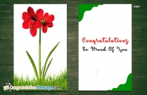 Congratulations Proud Of You