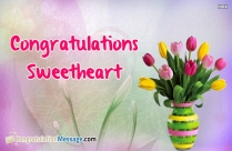 Congratulations Sweetheart Image