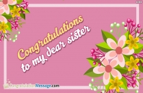 congrats my dear sister images