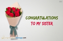 congratulations for sister marriage