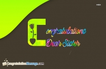 Congratulations Wishes For Sister