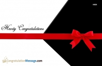 Hearty Congratulations To You Image