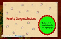 My Hearty Congratulations Message