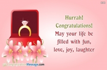 Hurrah! Congratulations! May Your Life Be Filled With Fun, Love, Joy, Laughter