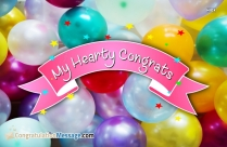 My Hearty Congrats