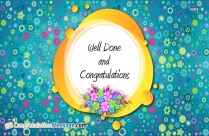 Well Done And Congratulations