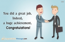 Congratulations on work anniversary for boss