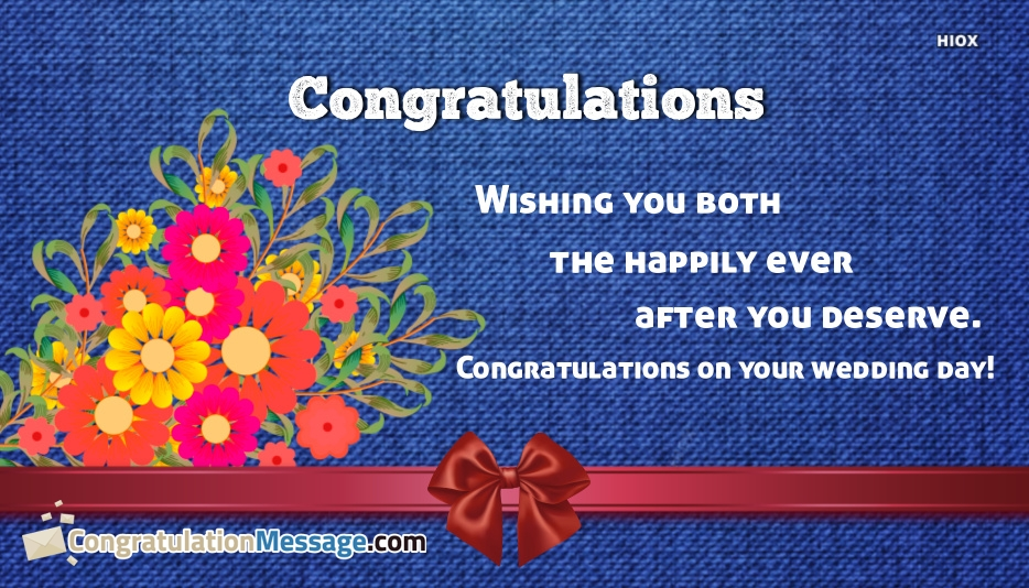 Congratulation Messages for Married Couple